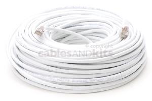 CAT5e Shielded Ethernet Patch Cable, Snagless, 150 Foot, White