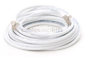 CAT5e Shielded Ethernet Patch Cable, Snagless, 20 Foot, White