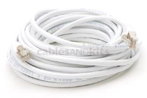 CAT5e Shielded Ethernet Patch Cable, Snagless, 25 Foot, White