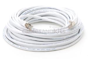 CAT5e Shielded Ethernet Patch Cable, Snagless, 50 Foot, White
