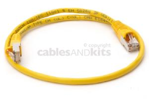 CAT5e Shielded Ethernet Patch Cable, Snagless, 2 Foot, Yellow