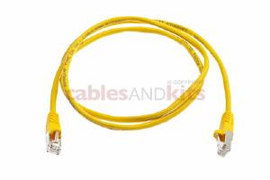 CAT5e Shielded Ethernet Patch Cable, Snagless, 4 Foot, Yellow