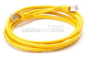 CAT5e Shielded Ethernet Patch Cable, Snagless, 7 Foot, Yellow