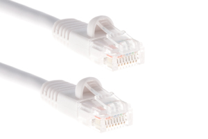 CAT5e Ethernet Patch Cable, Snagless, 1 Foot, White