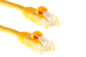 CAT5e Ethernet Patch Cable, Snagless, 0.5 Foot, Yellow