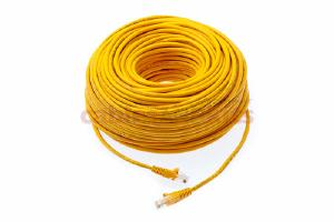CAT5e Ethernet Patch Cable, Snagless, 200 Foot, Yellow