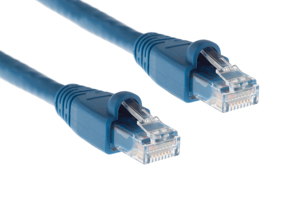 CAT6A Ethernet Patch Cable, Snagless, 2', Blue