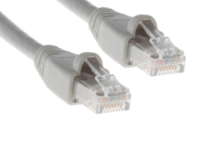 CAT6A Ethernet Patch Cable, Snagless, 75', Gray