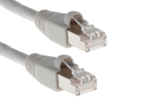 CAT6A Shielded Ethernet Patch Cable, Snagless, 4', Gray