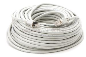 CAT6A Shielded Ethernet Patch Cable, Snagless, 100', Gray