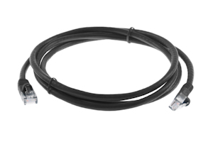 CAT6 Ethernet Patch Cable, Snagless, 5', Black
