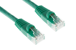 CAT6 Ethernet Patch Cable, Snagless, 2', Green