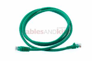 CAT6 Ethernet Patch Cable, Snagless, 4', Green
