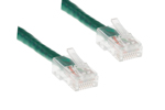 CAT6 Ethernet Patch Cable, Non-Booted, 15 Foot, Green
