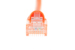 CAT6 Ethernet Patch Cable, Booted, 1ft, Orange