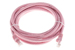 CAT6 Ethernet Patch Cable, Booted, 10ft, Pink