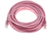CAT6 Ethernet Patch Cable, Booted, 20ft, Pink