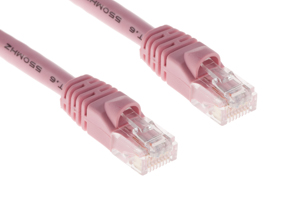 CAT6 Ethernet Patch Cable, Snagless, 75', Pink