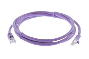CAT6 Ethernet Patch Cable, Snagless, 5', Purple