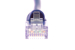 CAT6 Ethernet Patch Cable, Snagless, 14', Purple