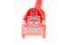 CAT6 Ethernet Patch Cable, Booted, 0.5ft, Red