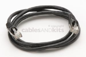 CAT6 Shielded Ethernet Patch Cable, Snagless, 4 Foot, Black