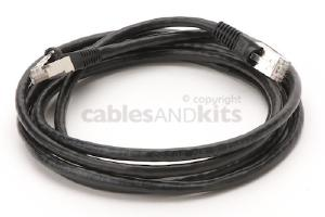 CAT6 Shielded Ethernet Patch Cable, Snagless, 7 Foot, Black
