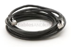 CAT6 Shielded Ethernet Patch Cable, Snagless, 10 Foot, Black