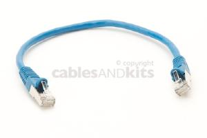 CAT6 Shielded Ethernet Patch Cable, Snagless, 1 Foot, Blue