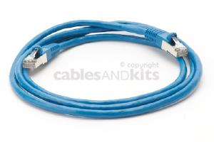CAT6 Shielded Ethernet Patch Cable, Snagless, 5 Foot, Blue