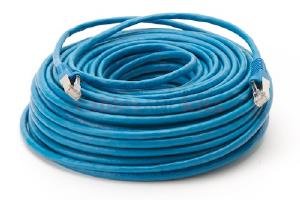 CAT6 Shielded Ethernet Patch Cable, Snagless, 100 Foot, Blue