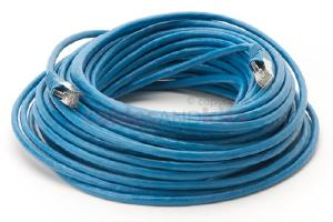 CAT6 Shielded Ethernet Patch Cable, Snagless, 75 Foot, Blue