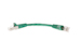 CAT6 Shielded Ethernet Patch Cable, Snagless, 0.5 Foot, Green