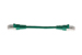 CAT6 Shielded Ethernet Patch Cable, Booted, 0.5ft, Green