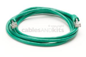 CAT6 Shielded Ethernet Patch Cable, Snagless, 6 Foot, Green