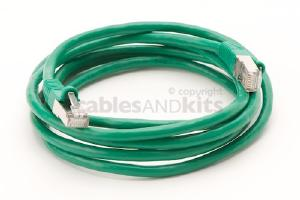 CAT6 Shielded Ethernet Patch Cable, Snagless, 7 Foot, Green