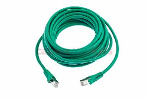 CAT6 Shielded Ethernet Patch Cable, Snagless, 20 Foot, Green