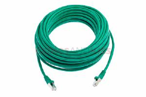 CAT6 Shielded Ethernet Patch Cable, Snagless, 50 Foot, Green