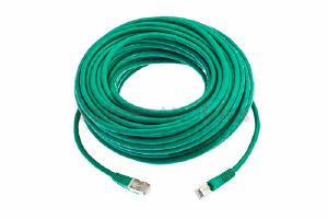 CAT6 Shielded Ethernet Patch Cable, Snagless, 75 Foot, Green