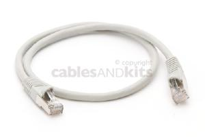 CAT6 Shielded Ethernet Patch Cable, Snagless, 2 Foot, Gray