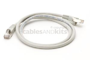 CAT6 Shielded Ethernet Patch Cable, Snagless, 3 Foot, Gray