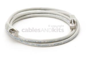 CAT6 Shielded Ethernet Patch Cable, Snagless, 5 Foot, Gray