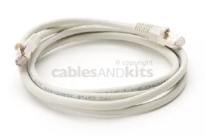 CAT6 Shielded Ethernet Patch Cable, Snagless, 6 Foot, Gray