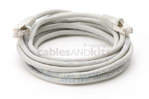 CAT6 Shielded Ethernet Patch Cable, Snagless, 10 Foot, Gray