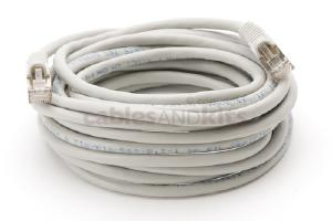 CAT6 Shielded Ethernet Patch Cable, Snagless, 15 Foot, Gray
