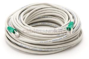 Cat6 Shielded Crossover Snagless Ethernet Patch Cable, 75', Gray