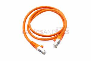 CAT6 Shielded Ethernet Patch Cable, Snagless, 3 Foot, Orange