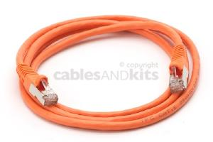 CAT6 Shielded Ethernet Patch Cable, Snagless, 5 Foot, Orange