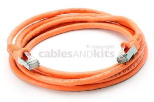 CAT6 Shielded Ethernet Patch Cable, Snagless, 6 Foot, Orange
