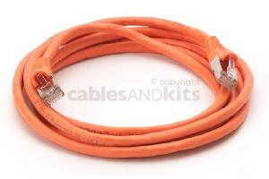 CAT6 Shielded Ethernet Patch Cable, Snagless, 7 Foot, Orange
